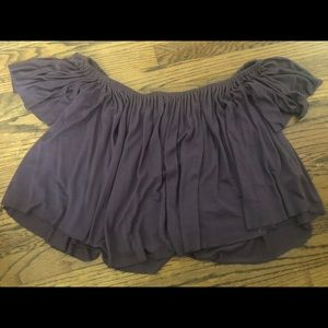 Urban Outfitters Purple Off the Shoulder Crop Top